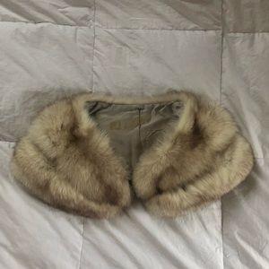 Vintage genuine fur shrug